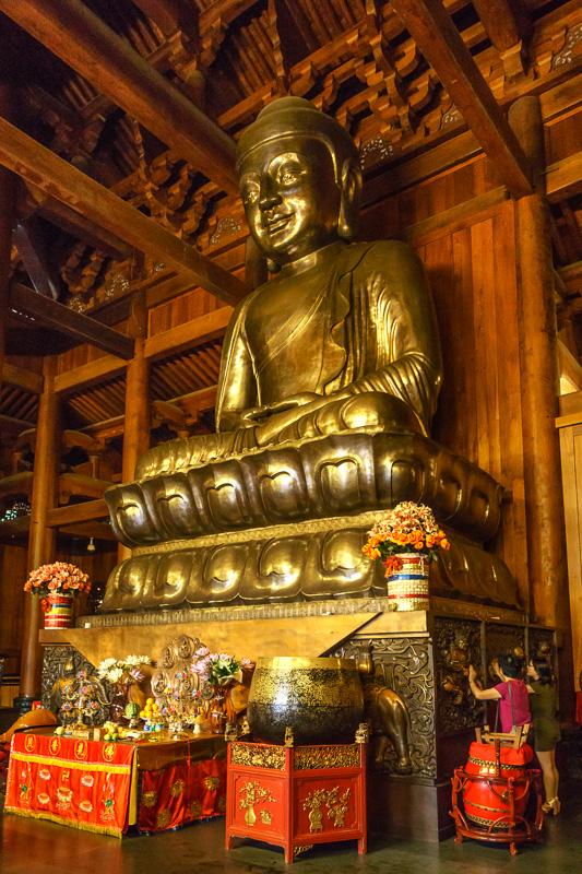 Buddha inside Jing'an Temple, Shanghai, China