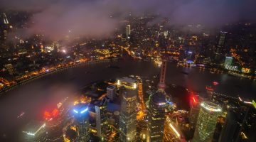 Skyling from the Shanghai Tower, China