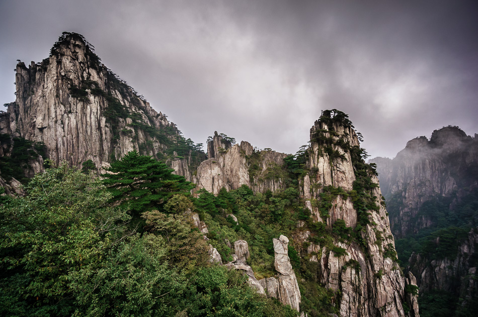 Mountains in Huangshan National Park, UNESCO World Heritage Site, China