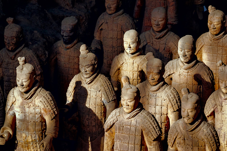 Terracotta Warriors in the Mausoleum of the First Qin Emperor, Xi'an, China