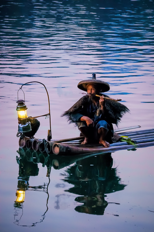 Cormorant Fisherman on the Li River, Guilin, China