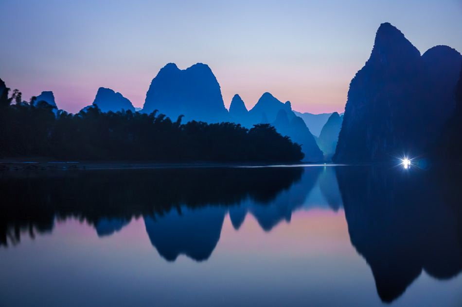 Li River and Karst Mountains in Guilin, China