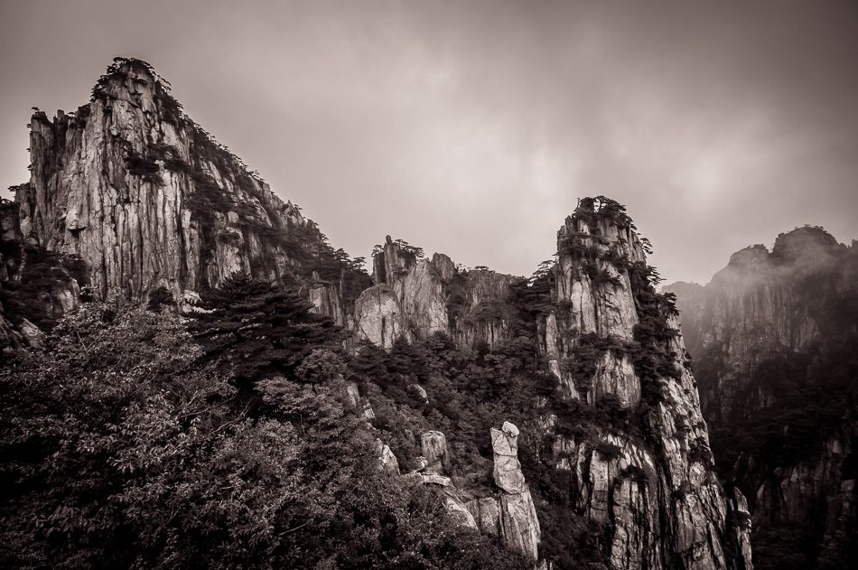 Huangshan China Sepia Collection