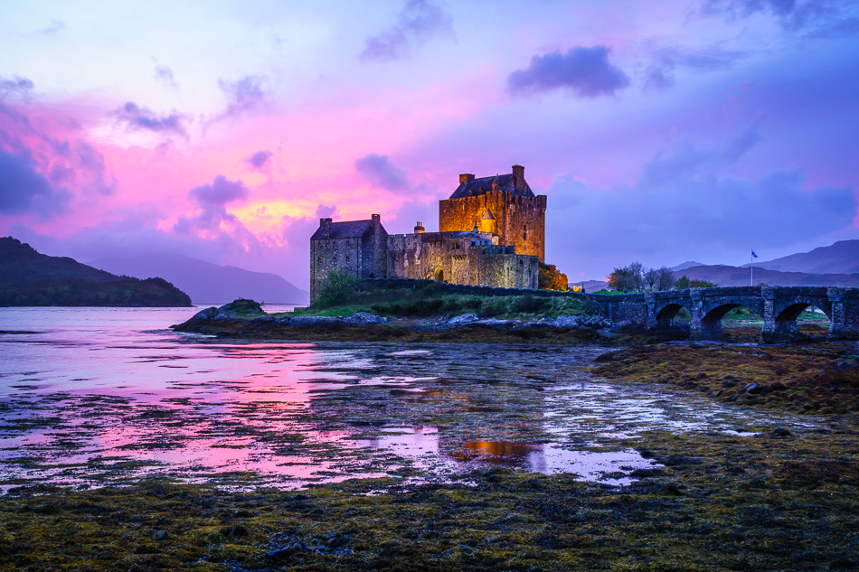 Sunset at Eilean Donan Castle, Scotland