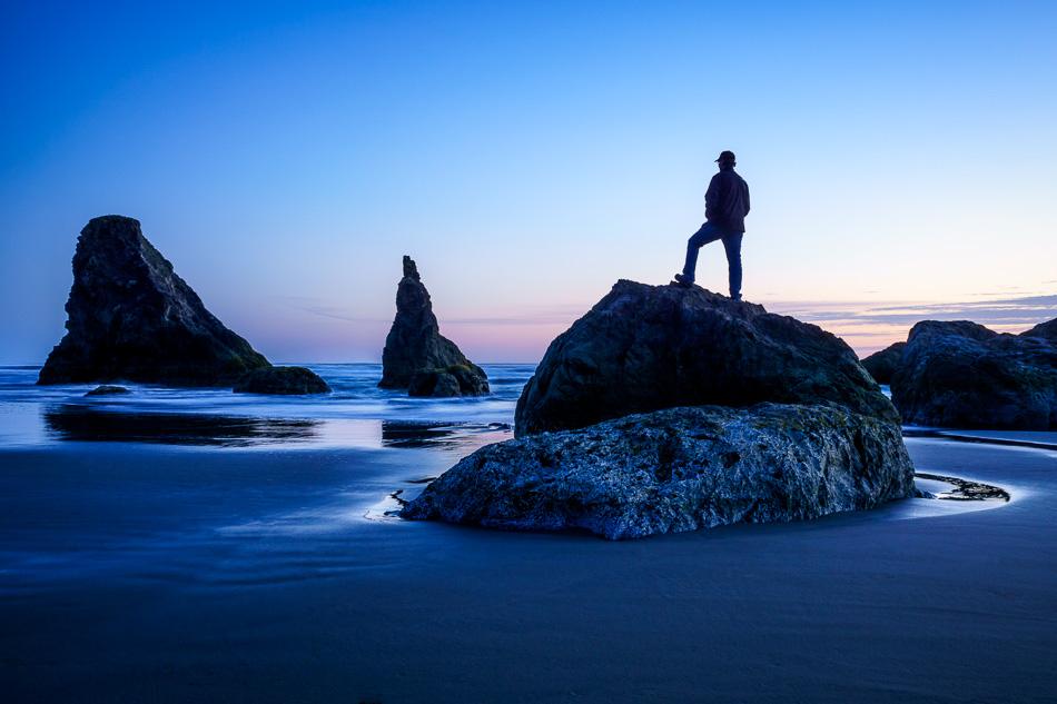 Ray at Bandon Beach, Oregon