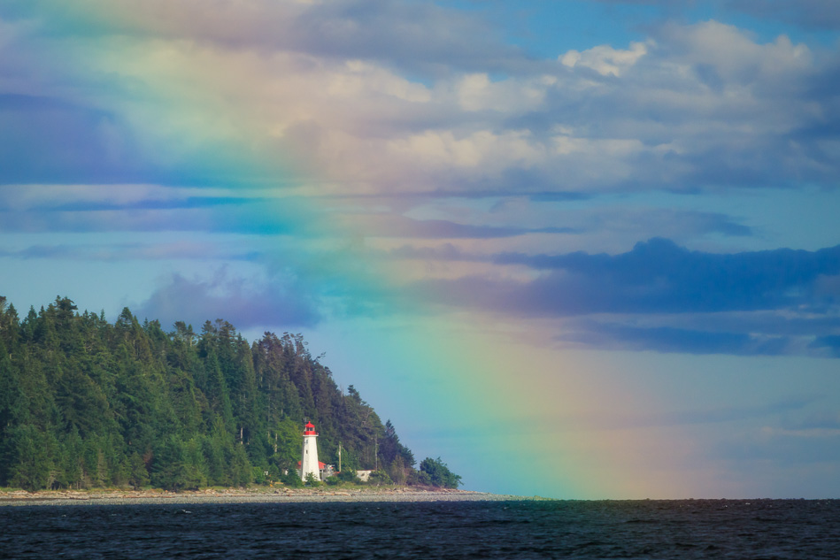 Rainbow at Cape Mudge near Campbell River, British Columbia